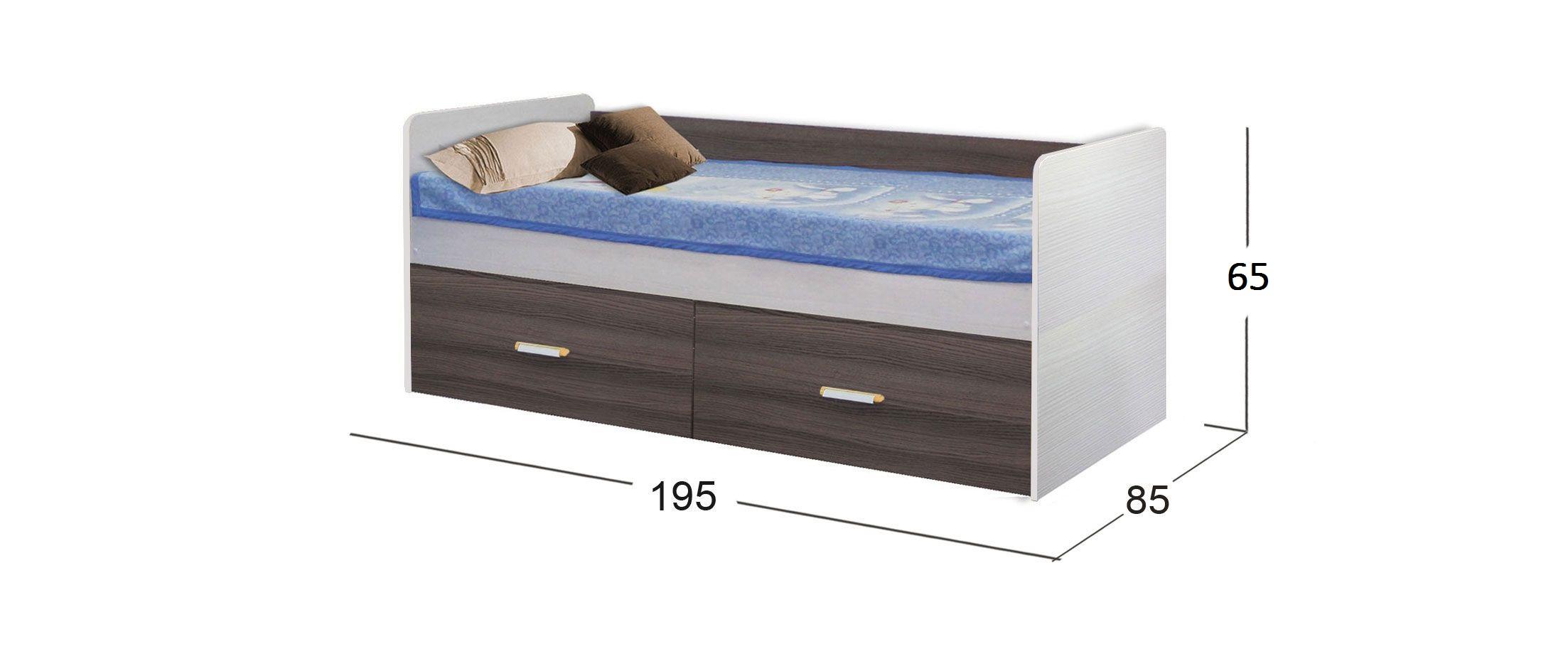 Кровать Скейт-5 высокая Модель 516